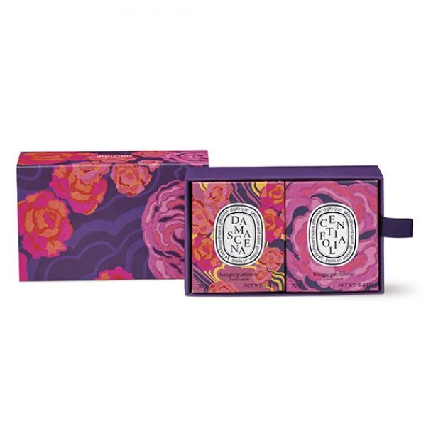 Coffret Centifolia Et Damascena - Diptyque -Bougie parfumée