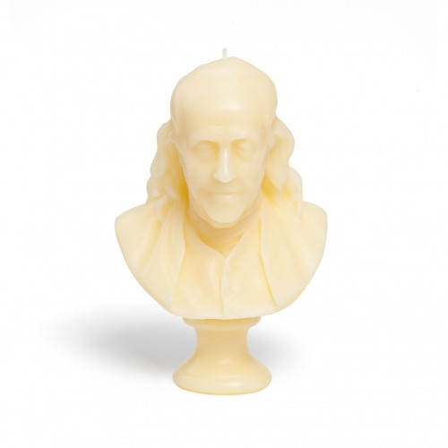 Buste Benjamin Franklin - Ivoire - Cire Trudon -Décoration